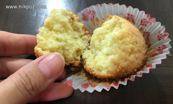 کاپ کیک وانیل نرم بدون شیر