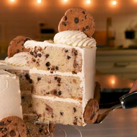 کیک شیر با کوکی